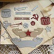 Инструменты для скрапбукинга ручной работы. Ярмарка Мастеров - ручная работа Набор ножей для вырубки СССР, 9 штук, Scrapfriend. Handmade.