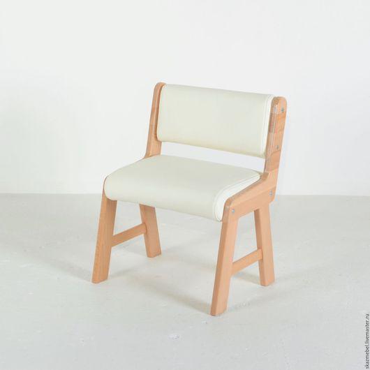 Детская ручной работы. Ярмарка Мастеров - ручная работа. Купить Стульчик детский мягкий белый. Handmade. Белый, растущий стул