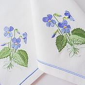 Swipe handmade. Livemaster - original item napkin with embroidery