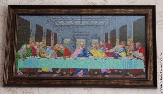 Иконы ручной работы. Ярмарка Мастеров - ручная работа. Купить Тайная вечеря. Handmade. Икона, Икона из бисера, леонардо да винчи