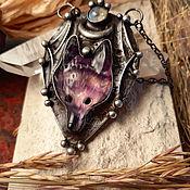 Украшения handmade. Livemaster - original item Fluorite Wolf Pendant (p-068-02). Handmade.