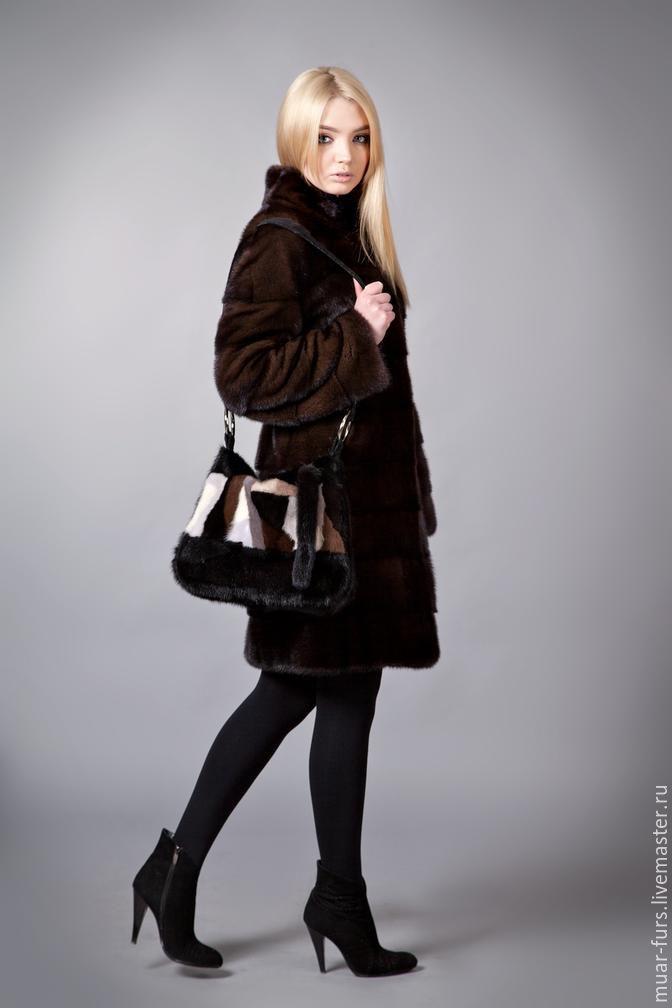 Bag mink. fur bag. handbag made of mink, Classic Bag, Kirov,  Фото №1