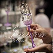 """Свадебный салон ручной работы. Ярмарка Мастеров - ручная работа Свадебные бокалы """"Violetta"""". Handmade."""