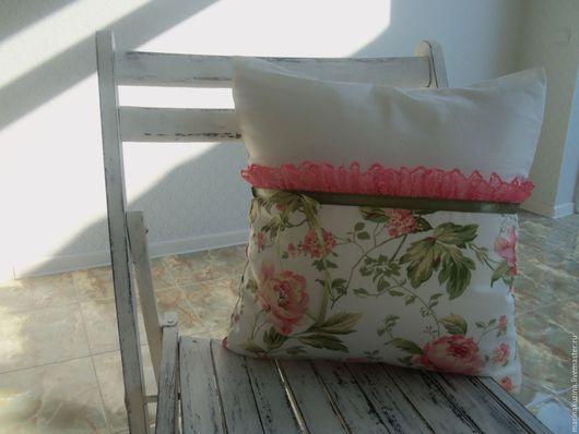 Текстиль, ковры ручной работы. Ярмарка Мастеров - ручная работа. Купить Подушка интерьерная. Handmade. Белый, полулён