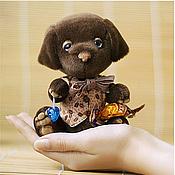 Куклы и игрушки ручной работы. Ярмарка Мастеров - ручная работа Шоколадный лабрадор Тимоша. Handmade.