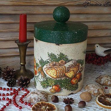"""Посуда ручной работы. Ярмарка Мастеров - ручная работа """"Рождественские сладости""""-короб. Handmade."""