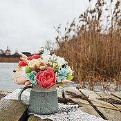 """Цветы и флористика ручной работы. Ярмарка Мастеров - ручная работа Букет  """"Зима возле камина"""". Handmade."""