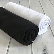 Ткани ручной работы. Ярмарка Мастеров - ручная работа КУЛИРКА в ассортименте  чёрный/белый. Handmade.