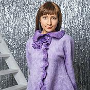"""Одежда ручной работы. Ярмарка Мастеров - ручная работа Жакет ручной работы """" Нежность цветения фиолетового"""". Handmade."""