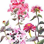 Картины и панно ручной работы. Ярмарка Мастеров - ручная работа Розовый флокс. Handmade.