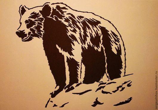 """Животные ручной работы. Ярмарка Мастеров - ручная работа. Купить Картина """"Медведь"""". Handmade. Коричневый, картина в подарок, охота"""