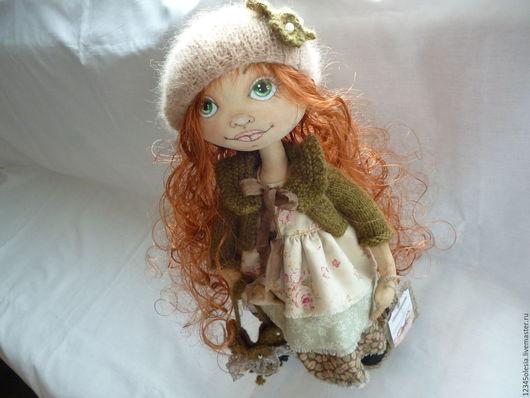 Коллекционные куклы ручной работы. Ярмарка Мастеров - ручная работа. Купить Машенька авторская текстильная интерьерная  кукла ручная работа. Handmade.