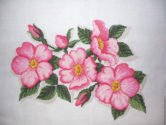 Картины цветов ручной работы. Ярмарка Мастеров - ручная работа. Купить Ручная вышивка. Handmade. Вышивка крестом, цветы, канва