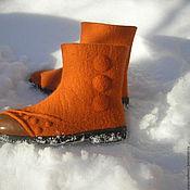 """Обувь ручной работы. Ярмарка Мастеров - ручная работа валяные ботинки """" Апельсинки"""". Handmade."""
