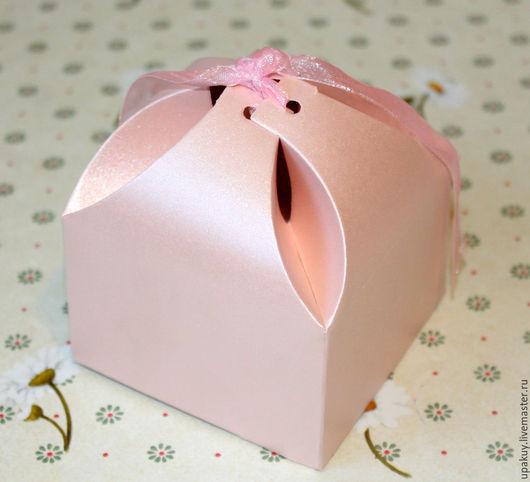 Упаковка ручной работы. Ярмарка Мастеров - ручная работа. Купить Коробочка подарочная 8,5x8.5x4.5. Handmade. Розовый
