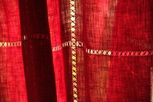 Текстиль, ковры ручной работы. Ярмарка Мастеров - ручная работа. Купить Льняная штора с волшебством. Занавеска из льна с вышивкой на заказ.. Handmade.