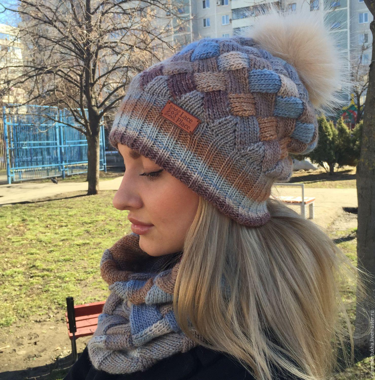 Шарф и шапка для девочки спицами. Работы Тамары Матус 76