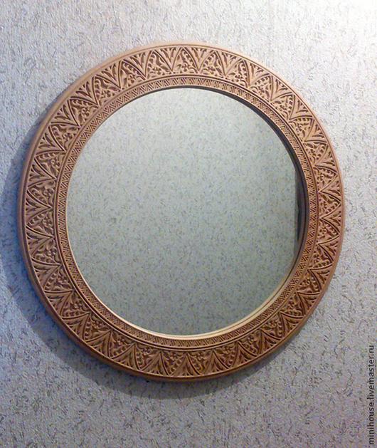 Зеркала ручной работы. Ярмарка Мастеров - ручная работа. Купить Зеркало в раме из дерева, заготовка для декупажа. Handmade. Бежевый