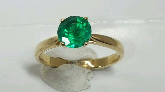Кольца ручной работы. Ярмарка Мастеров - ручная работа. Купить Кольцо из золота с зеленым агатом. Handmade. Кольцо с зеленым камнем