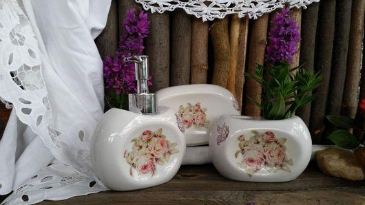 Ванная комната ручной работы. Ярмарка Мастеров - ручная работа. Купить Ванна комната, Набор, мыло.. Handmade. Бледно-розовый
