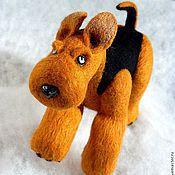 Куклы и игрушки ручной работы. Ярмарка Мастеров - ручная работа Бегущий эрдель. Handmade.