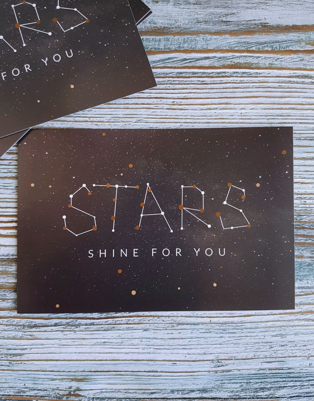 "Открытка 10х15 см, ""Stars shine for you"", Упаковка, Москва, Фото №1"