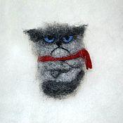 """Украшения ручной работы. Ярмарка Мастеров - ручная работа Брошка """"Grumpy cat"""". Handmade."""