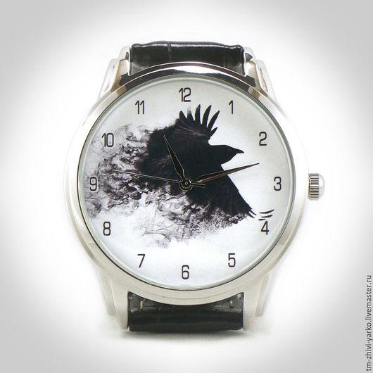 """Часы ручной работы. Ярмарка Мастеров - ручная работа. Купить Часы наручные """"Черный Ворон"""". Handmade. Часы, наручные часы"""