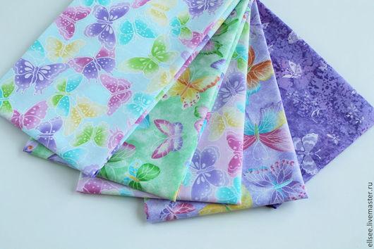 """Шитье ручной работы. Ярмарка Мастеров - ручная работа. Купить Набор тканей  """"Только бабочки"""" №2. Handmade. Ткани"""