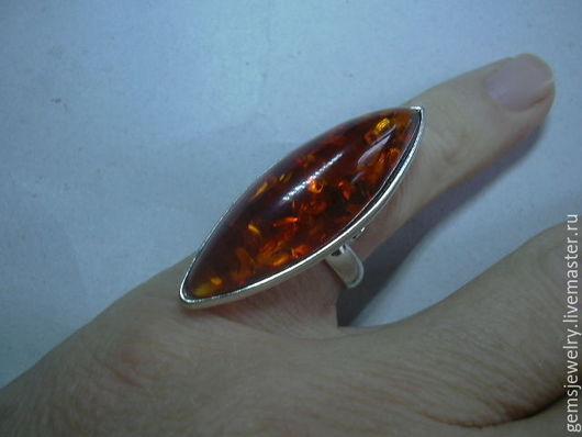 Кольца ручной работы. Ярмарка Мастеров - ручная работа. Купить Элегантное кольцо ЯНТАРЬ,серебрение.. Handmade. Оранжевый, янтарь балтийский