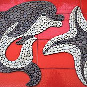 """Для дома и интерьера ручной работы. Ярмарка Мастеров - ручная работа Каменные коврики """"Дельфин"""" и """"Морская звезда"""". Handmade."""