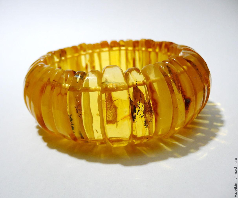 Bracelet made of amber 'Red Mandarin' 092, Bead bracelet, Svetlogorsk,  Фото №1