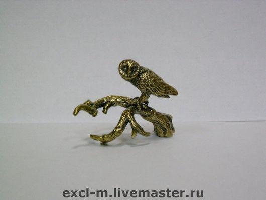 """Миниатюра ручной работы. Ярмарка Мастеров - ручная работа. Купить Статуэтка """"Сова на ветке"""". Handmade. Сова, филин, статуэтка, миниатюра"""
