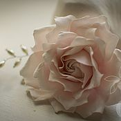 Свадебный салон handmade. Livemaster - original item Rose with a pearl weave. Handmade.