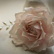Свадебный салон ручной работы. Ярмарка Мастеров - ручная работа Роза с жемчужным плетением. Handmade.