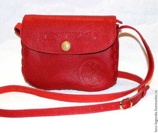 Женские сумки ручной работы. Ярмарка Мастеров - ручная работа. Купить Сумка кожаная с молнией - ярко-красная. Handmade.