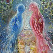 """Картины и панно ручной работы. Ярмарка Мастеров - ручная работа Маленькая картина для души """"Дарящие счастье"""". Handmade."""