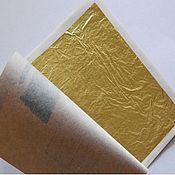 Сусальное золото для стекла США 23 карата поталь 25 листов