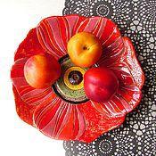 """Посуда ручной работы. Ярмарка Мастеров - ручная работа Керамическое блюдо """"МАК"""". Handmade."""