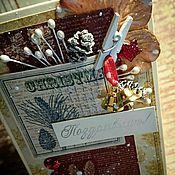 Конверты ручной работы. Ярмарка Мастеров - ручная работа Новогодняя открытка для денег. Конверт для денег ручной работы.. Handmade.