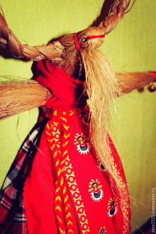 Сувениры ручной работы. Ярмарка Мастеров - ручная работа. Купить Вятская Коза. Handmade. Комбинированный, коза, кукла-оберег, мочало