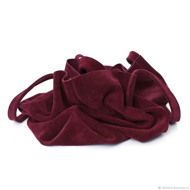 965452d0609e Женские сумки ручной работы. Бордовая замшевая Сумка Шоппер Тоут Пакет из  замши без подклада.