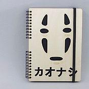 Канцелярские товары handmade. Livemaster - original item Carried away by ghosts Wooden notebook / Sketchbook. Handmade.