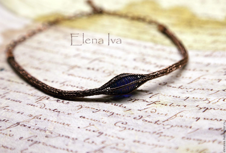 Copper necklace Viking Knit Pod Blue – shop online on Livemaster ...