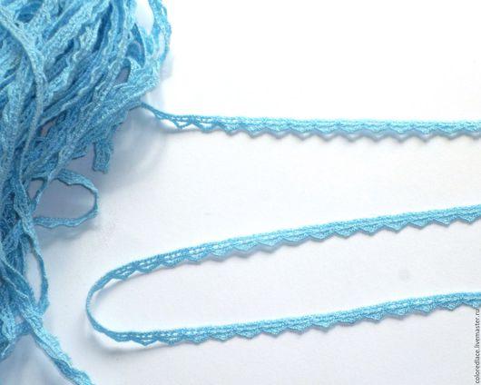 Шитье ручной работы. Ярмарка Мастеров - ручная работа. Купить Небесно-голубое узкое кружево арт. 171. Handmade. Кружево