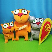 Куклы и игрушки handmade. Livemaster - original item Wooden saber. Soft toys cats Vasya Lozhkina. Handmade.