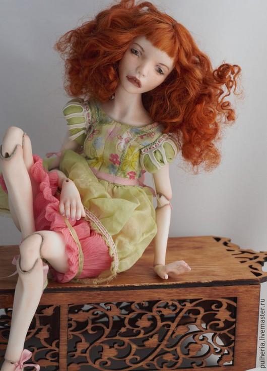 Коллекционные куклы ручной работы. Ярмарка Мастеров - ручная работа. Купить Irish. Handmade. Ярко-зелёный, фарфор