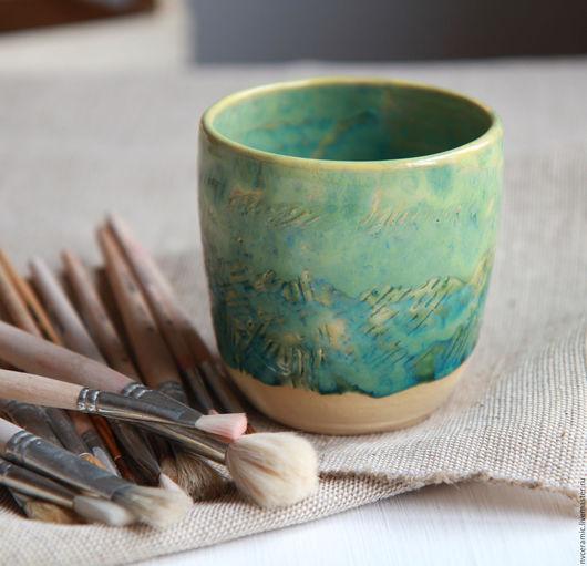 Карандашницы ручной работы. Ярмарка Мастеров - ручная работа. Купить Стакан. Handmade. Зеленый, стакан ручной работы, ручная работа