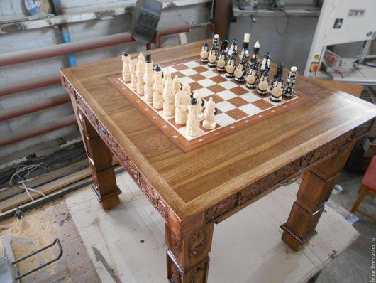 Мебель ручной работы. Ярмарка Мастеров - ручная работа. Купить Стол шахматный.. Handmade. Коричневый, шахматная доска, столик из массива