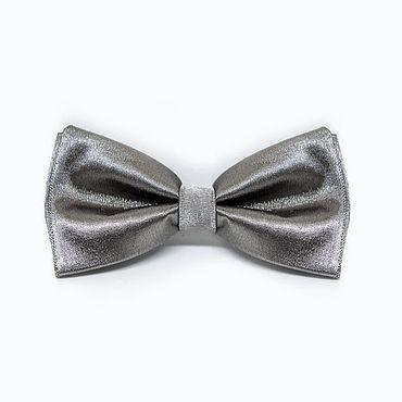 Accessories handmade. Livemaster - original item Bow tie silver satin. Handmade.